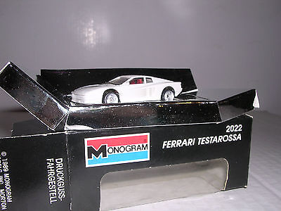 $12.99 • Buy MONOGRAM #2022  Mini Exacts   Ferrari Testarossa  White   H.O.Scale 1/87