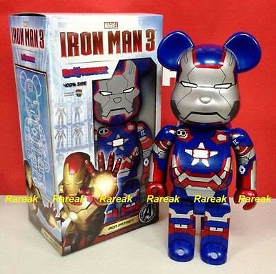 $665.99 • Buy Medicom Be@rbrick 2013 Marvel Avengers Iron Man 3 400% Iron Patriot Bearbrick 1p