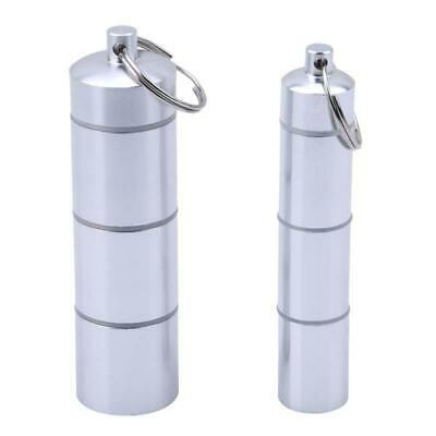 $2.14 • Buy Waterproof Aluminum Pill Box Case Bottle Drug Holder Keychain Container O3