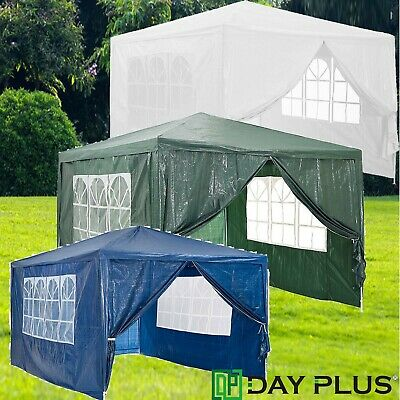 3M*3M Waterproof Large Gazebo Party Tent Camping Tent Sun Shelter Beach Tent • 63.95£