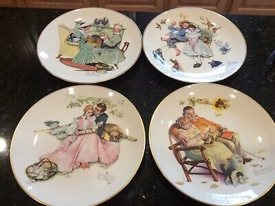 $ CDN62.77 • Buy Vintage Gorham Norman Rockwell 1973 Limited Edition Four Seasons Plates Set Of 4