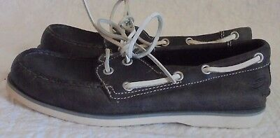 Skechers, Men's Dark Brown Leather Boat Shoe, Size  6 1/2 M • 7.92£