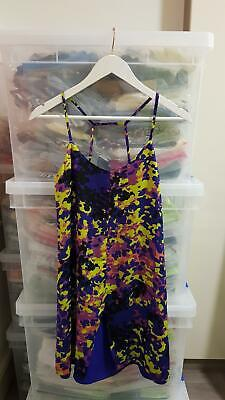 £14.99 • Buy New Topshop Dress Shift Cami Sleeveless Blue Purple Yellow Floral Womens Size 8