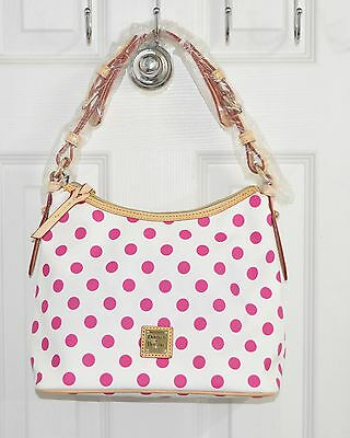 $135 • Buy Dooney & Bourke Bag Lucy Without Pockets White/Fuchsia Dots