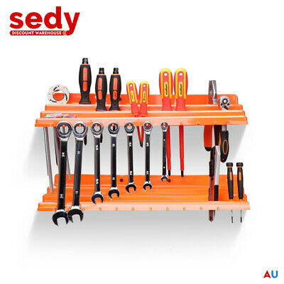 AU18.99 • Buy 2Pc Tool Storage Holder Wall Mounted Tray Organizer Rack For Wrench Screwdriver