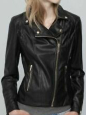 AU45.54 • Buy Pull And Bear Classic Faux Leather Bikers Jacket Size Small Uk 8 Bnwt