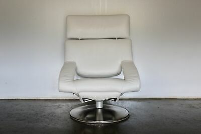 Sensational Rare Immaculate De Sede DS255/11 Reclining Armchair In White Leather • 2,400£