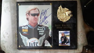 $49.95 • Buy Rusty Wallace NASCAR #2 MILLER LITE Autographed  Picture Plaque W/card