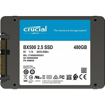 AU95.90 • Buy Crucial BX500 480GB 2.5  SATA SSD - 3D NAND 540/500MB/s 7mm Acronis True Image