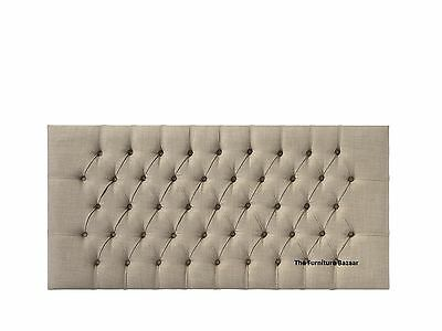Chesterfield Upholstered Headboard Single Double King Size Super King Size • 74£