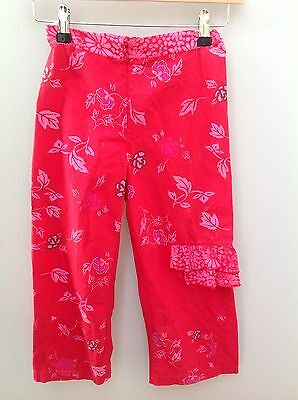 MARESE Pink Floral Cropped Trousers.  Age 10.  <N1986 • 6.99£