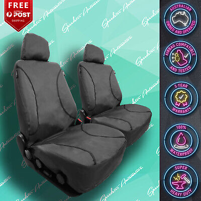 AU149 • Buy For Suzuki Jimny Strong Canvas All Over! Waterproof Grey Car Front Seat Covers