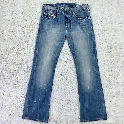 1b41d20b Diesel Zathan Men's Boot Cut Denim Jeans 29 X 32 Light Wash 008Y7 • 59.99$