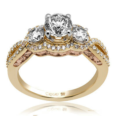Clogau Compose 18ct Yellow Rose Gold Bella Engagement Ring £6095 Off! 1ct  • 6,095£