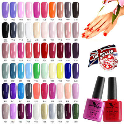 VENALISA Professional UV Nail Gel Polish Varnish Colour - 7.5ml 60 Colours • 3.95£