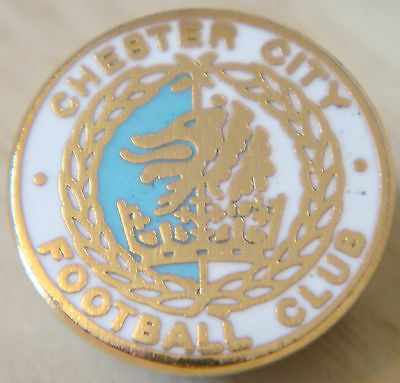 £8 • Buy CHESTER CITY FC Vintage Club Crest Type Badge Brooch Pin In Gilt 17mm Dia