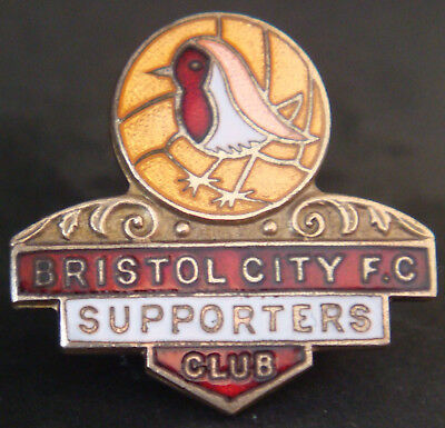 £10 • Buy BRISTOL CITY FC Vintage SUPPORTERS CLUB Badge Brooch Pin In Gilt 25mm X 24mm