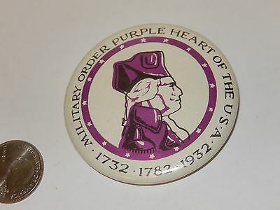 $6.30 • Buy Vintage Pin Button Military Order Purple Heart Of The USA