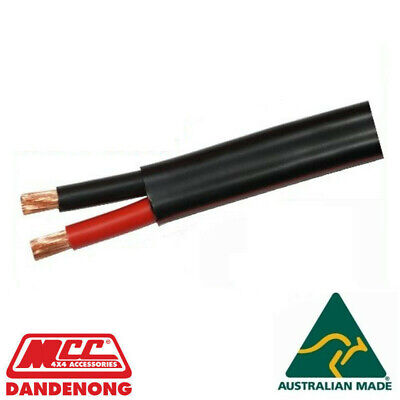 AU70 • Buy 15m METER 8mm 8 B&S TWIN CORE DOUBLE INSULATED CABLE COPPER 12V WIRE DC-DC