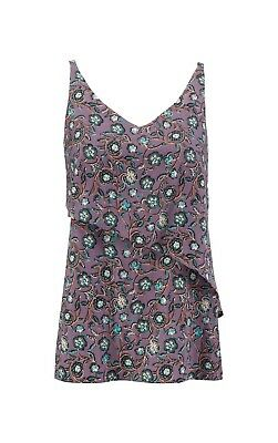 $59 • Buy New Cabi Floral Scrollwork Cami Blouse Top Large 3453 Purple Layered