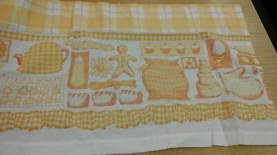 Curtain Pelmet/valance 90inches Wide 13.5drop Tape Top, Yellow And White Check. • 10.99£
