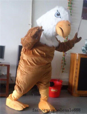 New Brown Head Bald Eagle Adults Mascot Costume Advertising Fancy Dress Clothing • 126.50£