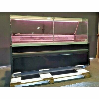 PICO 1.62 M DELI COUNTER COOLING SERVE OVER COUNTER SQUARE GLASS DISPLAY CHILLER • 1,490£