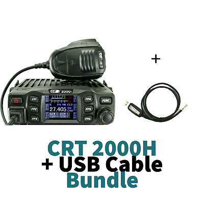 CRT2000H AM FM CB Radio CRT 2000 UK EU Mobile With USB Programming Cable  • 109.99£