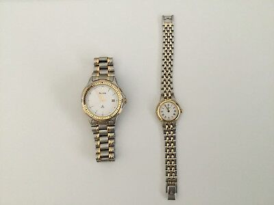 Genuine Accurist His And Hers Stainless Steel Analogue Watch Set • 40£