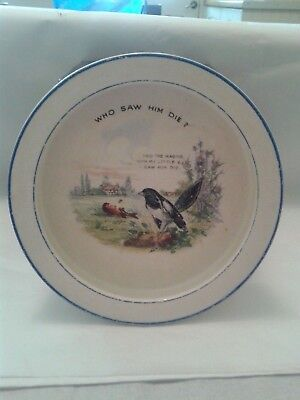 Antique Sampson Bridgwood  Cereal Bowl Cock Robin. • 28£