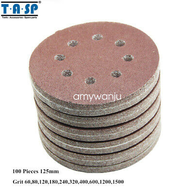 $ CDN19.99 • Buy 100PC 5-Inch 125mm  8 Hole Sand Disc Abrasive Sanding Paper 60 To 600 Grits
