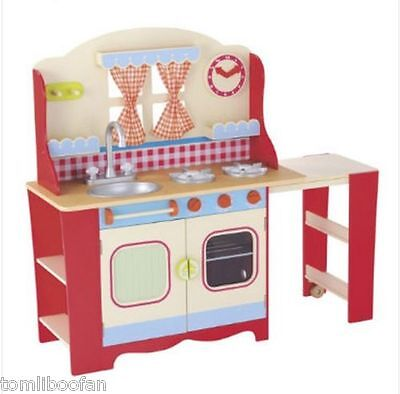 £120 • Buy ELC Wooden Cottage Kitchen Red RRP £150**Brand New**