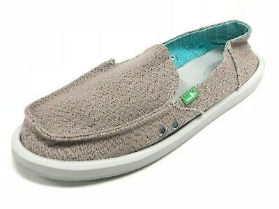 Sanuk Women's Donna Paige Flat Grey SWF10437 Sidewalk Surfer Slip On Shoes • 29.13£