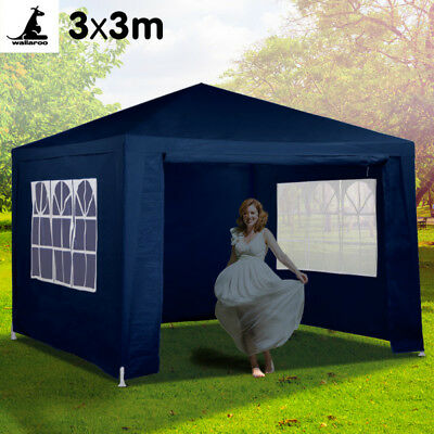 AU119.95 • Buy 3x3m Outdoor Event Marquee Gazebo Party Tent - Blue