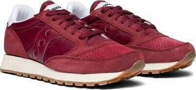 Saucony Jazz Original Men's Burgundy Trainers Sneakers At Size UK9 E44.NEW • 47.99£