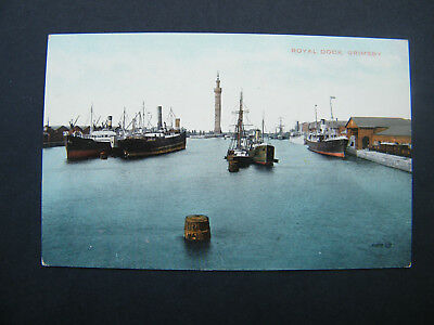 £1.50 • Buy Early Valentines Postcard Of Royal Dock, Grimsby.
