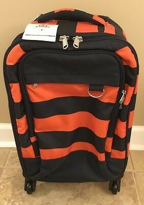$ CDN150.77 • Buy NEW Pottery Barn Teen Get Away Rolling Luggage ORANGE & NAVY