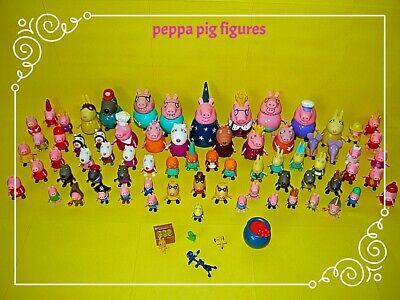 Peppa Pig Figures ~ Peppa,George,Suzzy,Candy,Zoe,Danny,Pedro,Gazelle & More~Used • 4.99£