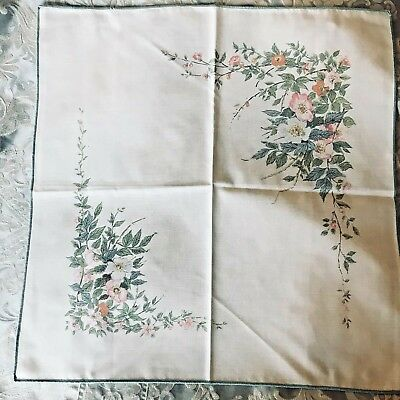 4 Vintage Napkins Dorma Country Collection Roses Poly Cotton Linen Christmas • 12.99£