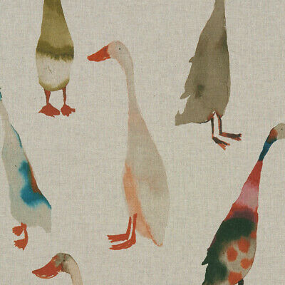 Clarke And Clarke Riverside Duck Linen Cotton PVC WIPE CLEAN Tablecloth Oilcloth • 15.99£