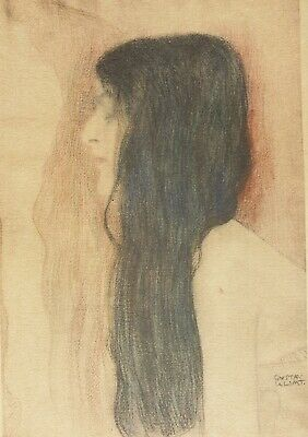 $ CDN340.65 • Buy Gustav Klimt, Girl With Long Hair, Hand Signed Lithograph Limited Edition