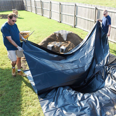 11.4X14.7ft Heavy Duty PVC Garden Pond Liner & Fish Pond Liner Thickness 0.1mm • 18.99£
