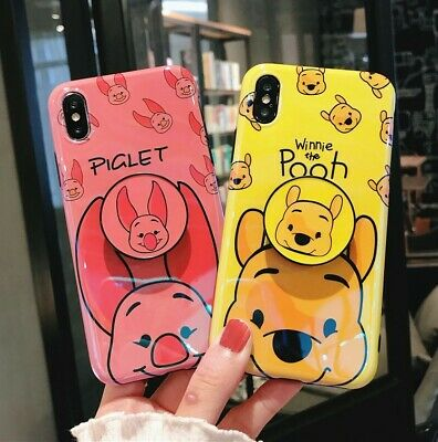 AU7.78 • Buy For IPhone Xs Max Xr 8+ Cute Cartoon Disney Winnie Pig Case Cover & Stand Holder