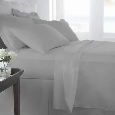 1000 Thread Count Egyptian Cotton  UK Bedding Items All Sizes Silver Grey Solid • 36.99£