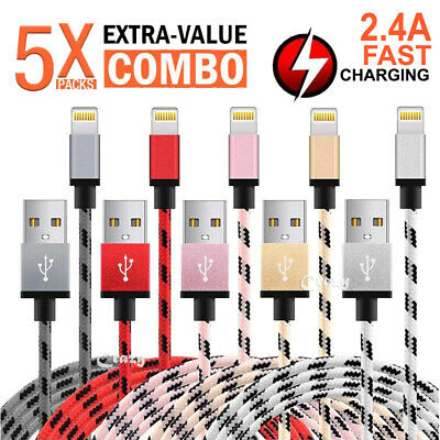 AU7.99 • Buy 5x Apple IPhone 8 7 6S Plus X XS Max XR IPad Lightning Charging Charger Cable
