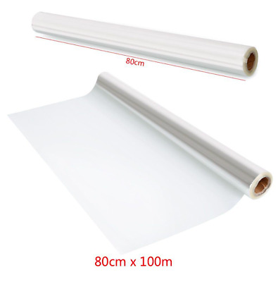 100M X 80cm Cellophane Roll Film Clear Florist Hamper Gift Wrap Craft • 11.99£