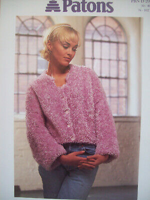 Ladies CROP CATWALK CARDIGAN KNITTING PATTERN Chunky Mohair 30 - 40 Inch  2036 • 1.99£
