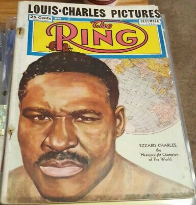 $10 • Buy Vintage December 1950 The Ring Boxing Magazine W/Ezzard Charles Cover