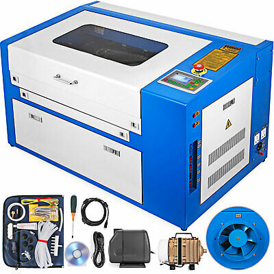 Updated 50W CO2 Laser Engraving Cutting Machine Engraver Cutter USB 300x500mm • 1,124.96£