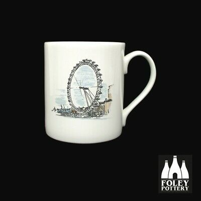 GB: London Eye, London, Thames, Inspired Bone China Mug By Foley Pottery  • 16.95£